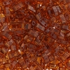 Miyuki Tila Half Cut 5X2.3mm 2Hole Dark Amber Transparent